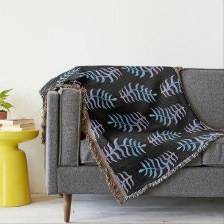 Cobertor A aguarela colorida ramifica cobertura