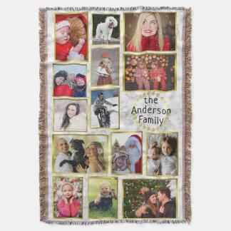 Cobertor A colagem da foto de família 14 imagens marmoreia