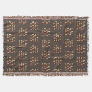 Cobertor Abóboras com a cobertura do lance das folhas