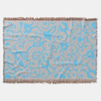 Cobertor Abstrato 4CK das cinzas azuis