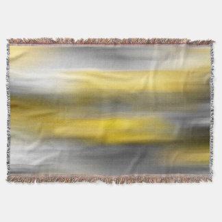 Cobertor Abstrato cinzento amarelo do vertical