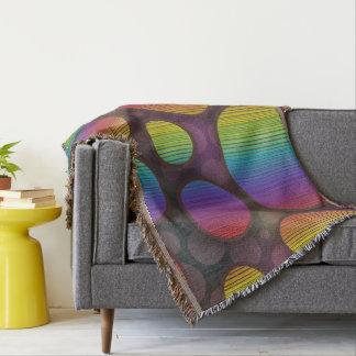 Cobertor Abstrato colorido dos círculos