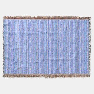 Cobertor Afegão azul do design do abstrato das árvores de