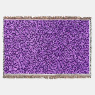 Cobertor Afegão roxo Amethyst violeta floral do vintage