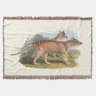 Cobertor Animais de Austrália o tigre tasmaniano