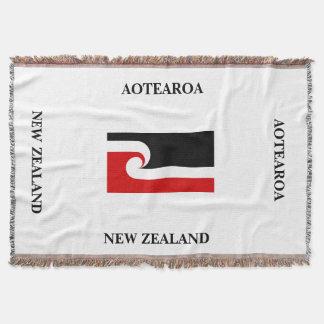 Cobertor AOTEAROA/lance maori da bandeira de Nova Zelândia