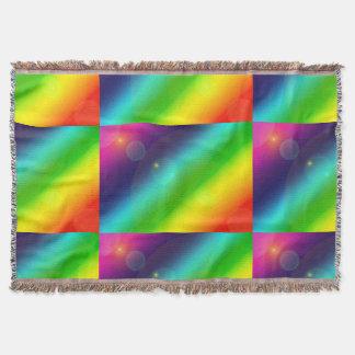 Cobertor Arco-íris borbulhante