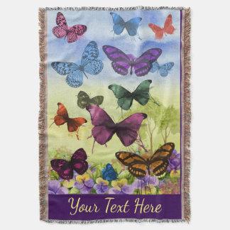 Cobertor Arte colorida brilhante das borboletas