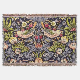 Cobertor Arte floral Nouveau do ladrão da morango de