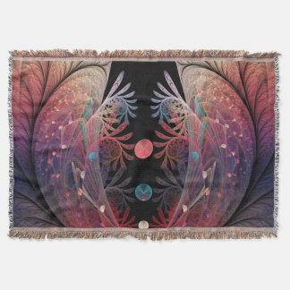 Cobertor Arte moderna abstrata do Fractal da fantasia de