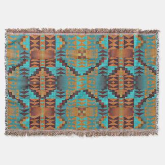 Cobertor Arte tribal indiana do teste padrão do nativo