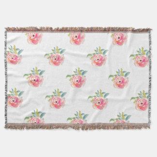 Cobertor Aumentaram os rosas cor-de-rosa elegantes da