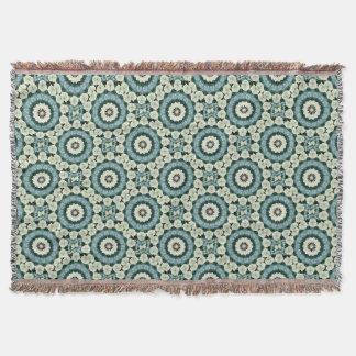 Cobertor Azul Cerulean e mandala verde de Sacramento