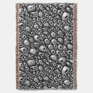 Cobertor Azulejo de pedra monocromático