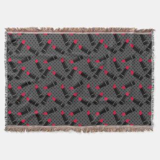 Cobertor Batom retro, vermelho