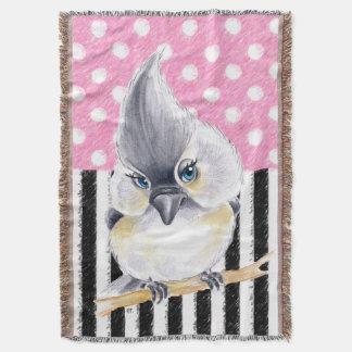 Cobertor Bolinhas cor-de-rosa do Titmouse