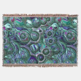 Cobertor Borrão colorido do abstrato 3D
