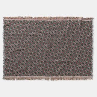 Cobertor Caleidoscópio da flor da estrela no marrom