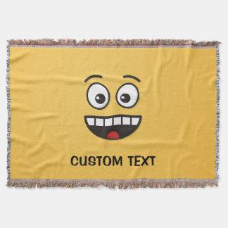 Cobertor Cara de sorriso com boca aberta