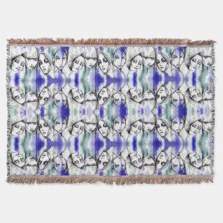 Cobertor Caras azuis