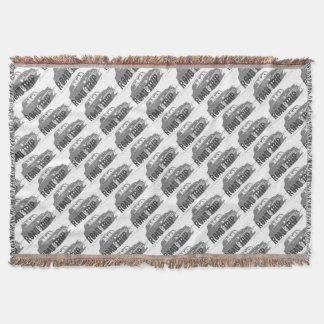 Cobertor Carro vintage da viagem por estrada