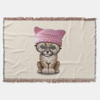 Cobertor Chita bonito Cub que veste o chapéu do bichano