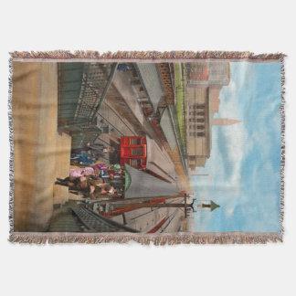 Cobertor Cidade - Chicago - a estação 1907 da rua de Van