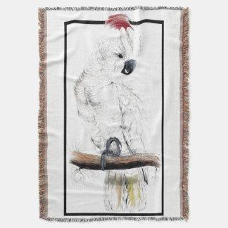 Cobertor Cobertura animal do lance do pássaro branco do