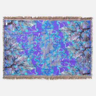Cobertor Cobertura azul elétrica do lance