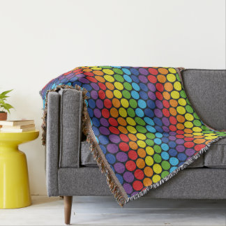 Cobertor Cobertura colorida do lance do teste padrão dos