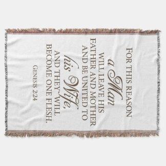 Cobertor Cobertura do casamento das citações do amor do