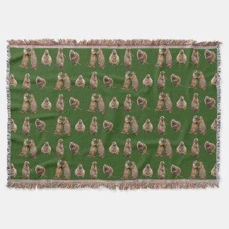 Cobertor Cobertura do lance da agitação do cão de pradaria