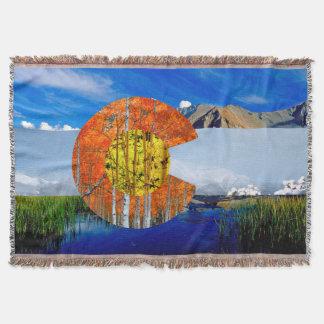 Cobertor Cobertura do lance da bandeira de Colorado