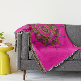 Cobertor cobertura do lance da mandala da arte 3D