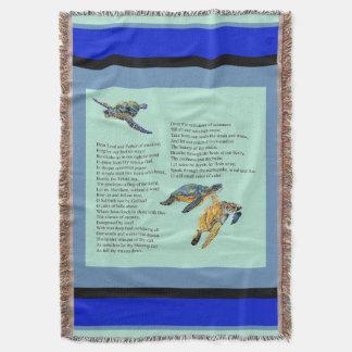 Cobertor Cobertura do lance da oração do poema do oceano