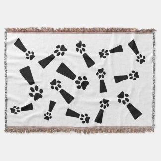 Cobertor Cobertura do lance da pata do cão da exclamação,