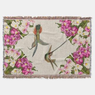 Cobertor Cobertura do lance das orquídeas & dos colibris