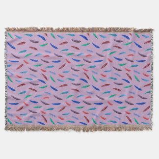 Cobertor Cobertura do lance das penas da aguarela