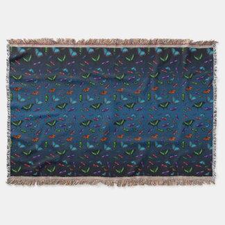 Cobertor Cobertura do lance de Flutterbies (mistura azul