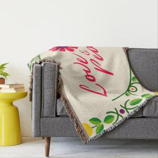 Cobertor Cobertura do lance do amor & da paz
