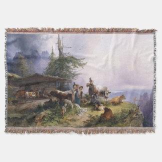 Cobertor Cobertura do lance do canto da família dos cumes