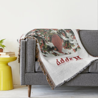 Cobertor Cobertura do lance do cardeal do feriado boas