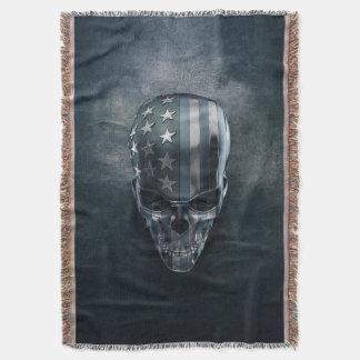 Cobertor Cobertura do lance do crânio da bandeira americana