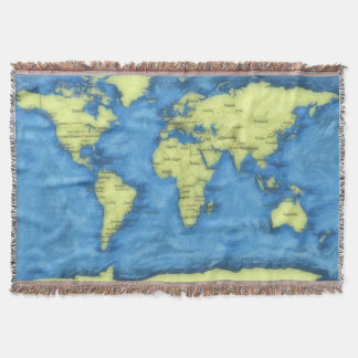 Cobertor Cobertura do lance do mapa do mundo