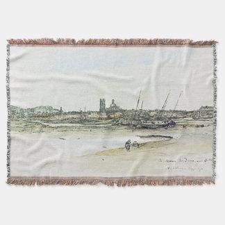 Cobertor Cobertura do lance do mar do oceano dos barcos da