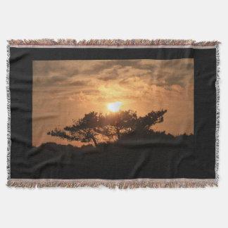 Cobertor Cobertura do lance do por do sol do montanhês