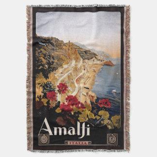 Cobertor Cobertura do lance do poster de viagens da costa