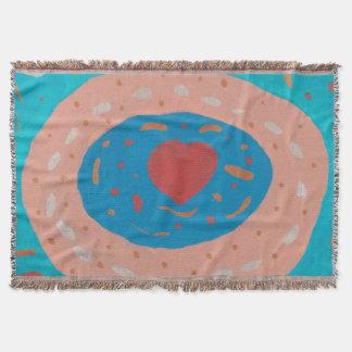 Cobertor Cobertura do lance dos círculos do amor
