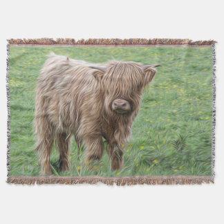 Cobertor Cobertura escocesa da fotografia da vaca das