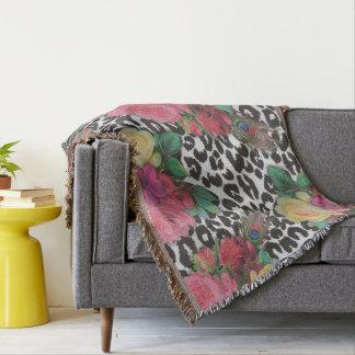 Cobertor cobertura floral do lance da chita das flores